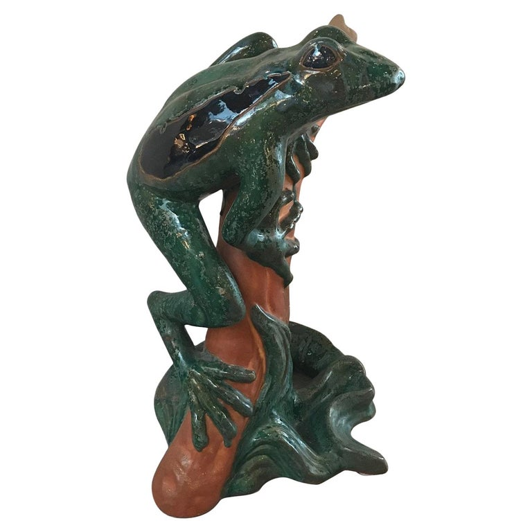Large Whimsical Italian Frog Sculpture