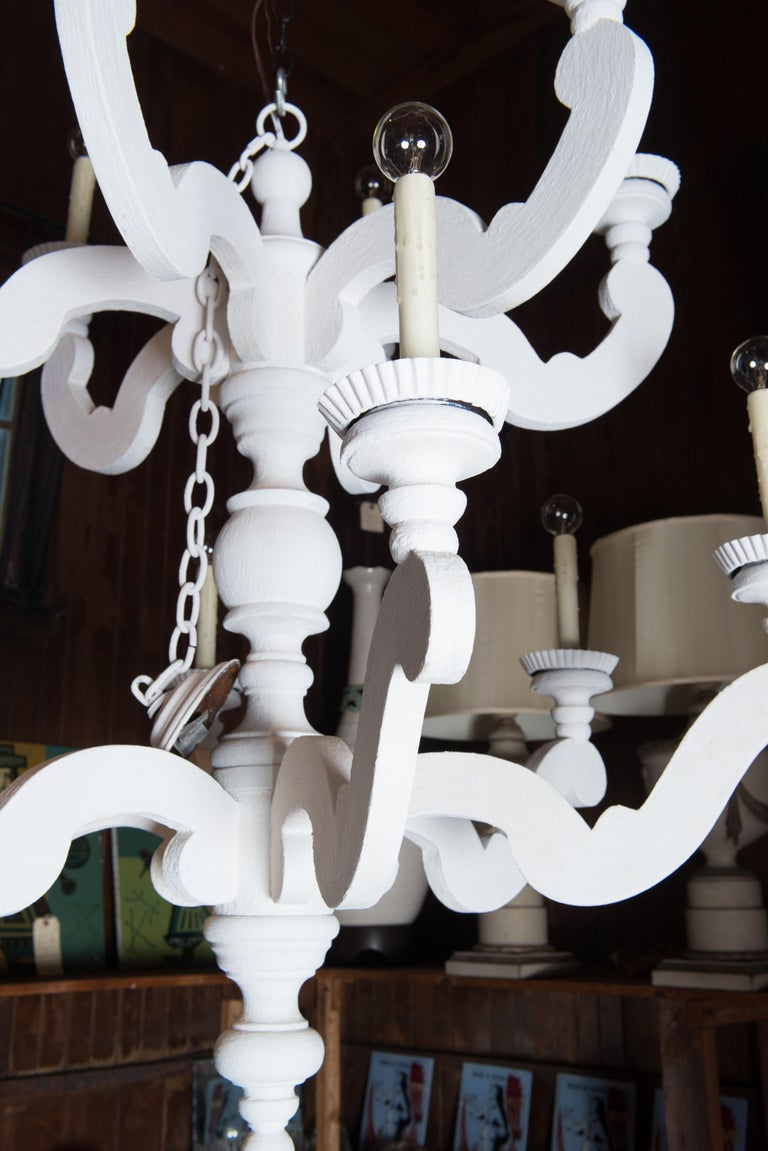 Large White Chandelier 12