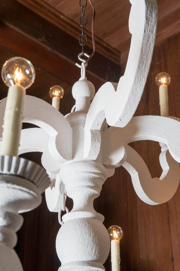 Large White Chandelier 1