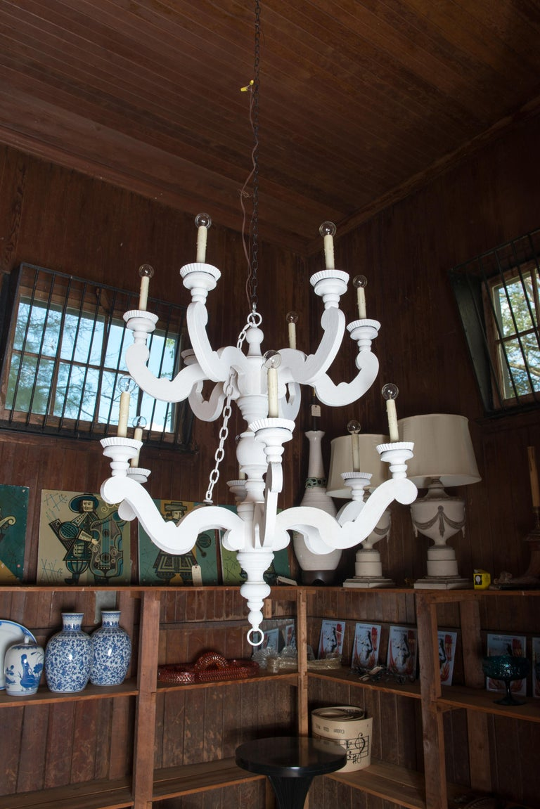 Large White Chandelier 3
