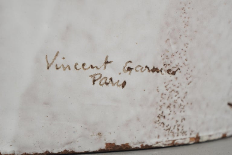 Large White Glazed Jardiniere by Vincent Garnier For Sale 3