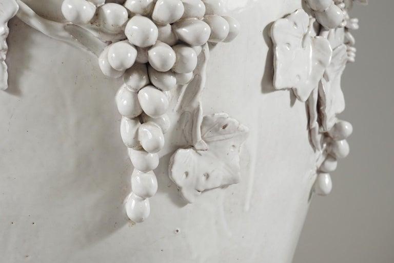 Large White Glazed Jardiniere by Vincent Garnier For Sale 1