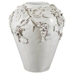 Large White Glazed Jardiniere by Vincent Garnier