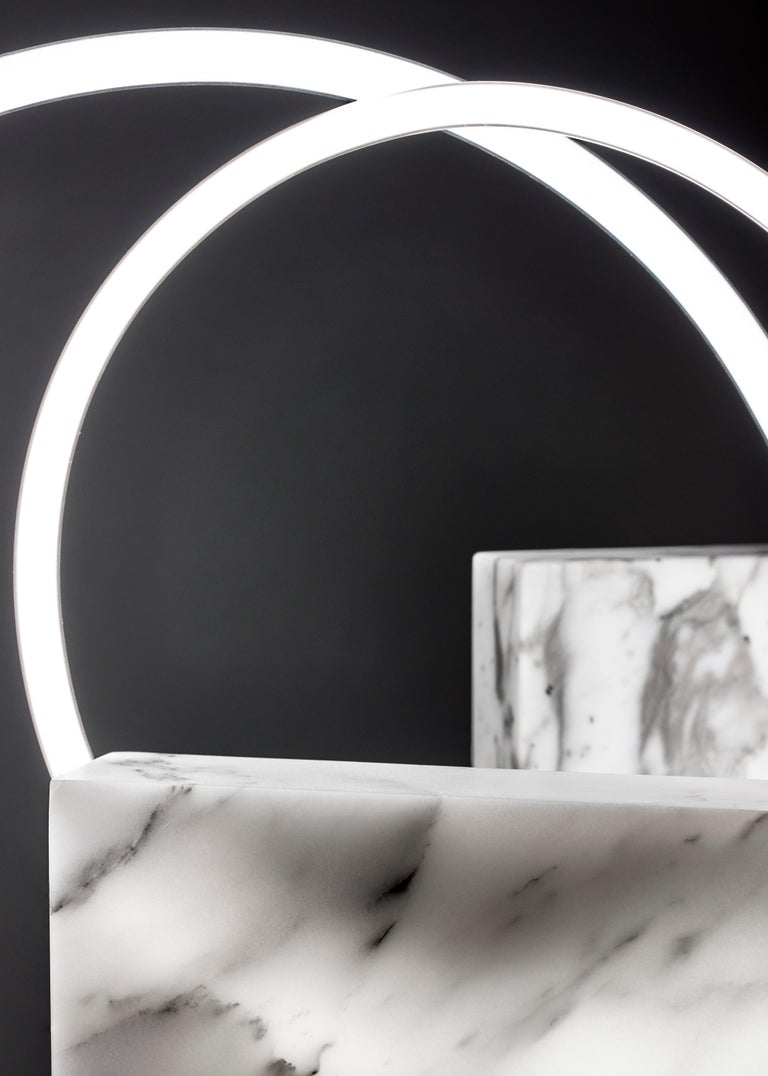 Modern Large White Marble Table Lamp, Sabine Marcelis For Sale