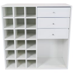 Large White Montana Module with Drawers and 18 Smaller Shelves, Designed by Pete