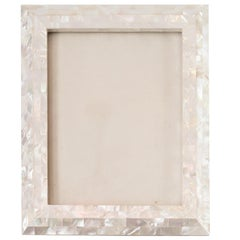 Large White Mother of Pearl Inlay Picture Frame