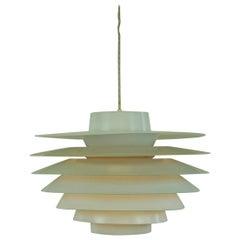 Large White Scandinavian Verona Pendant Lamp by Sven Middelboe for Nordisk Solar
