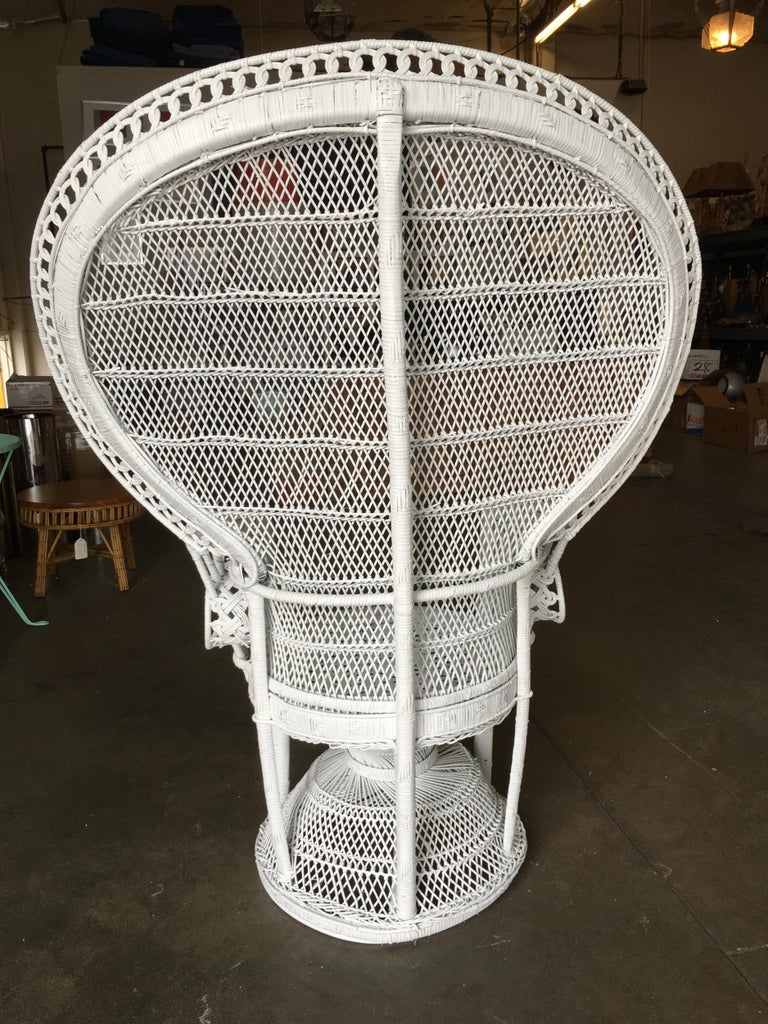 American Large White Woven Wicker