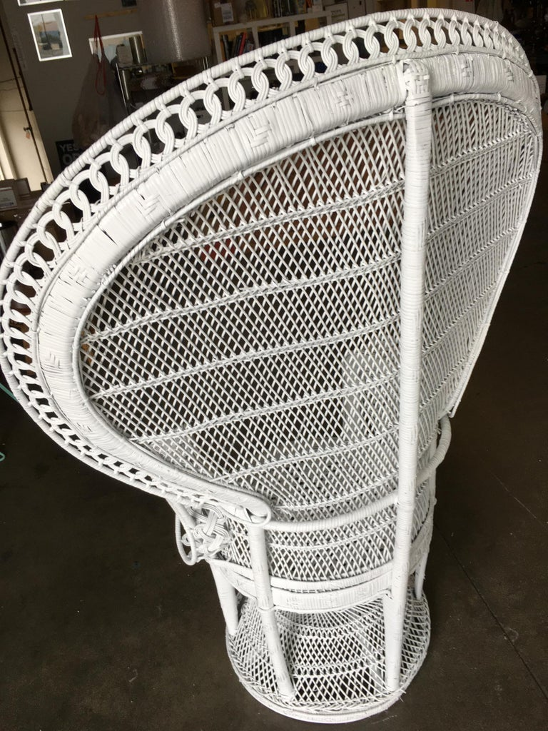 Large White Woven Wicker