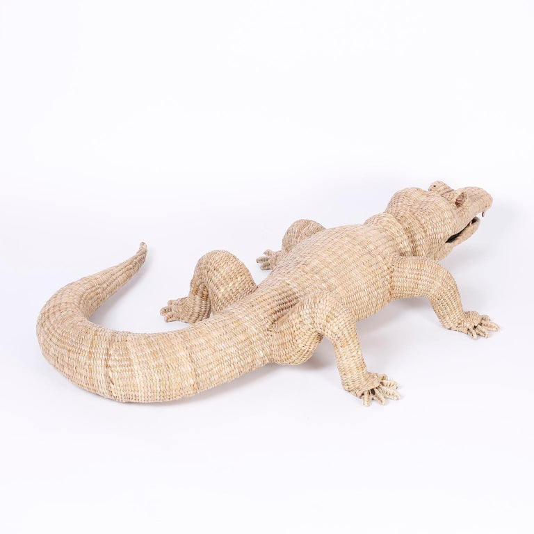 Mexican Large Wicker Alligator For Sale