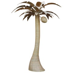 Large Wicker Palm Tree with Coconut