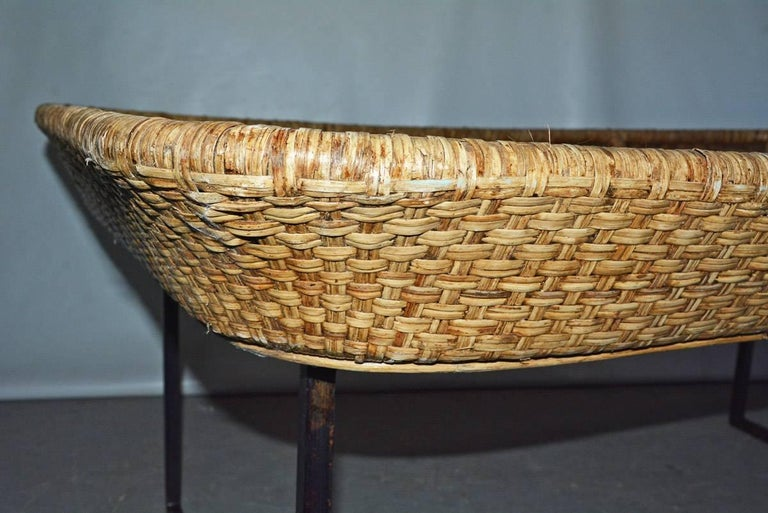 Large Wicker Tray Coffee Table For Sale 2