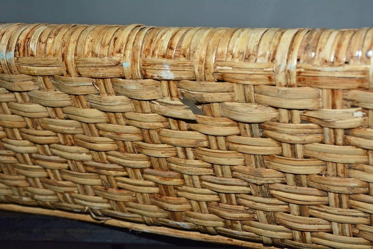 Large Wicker Tray Coffee Table For Sale 3