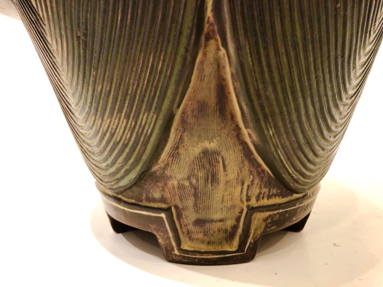 Ceramic Large Wilhelm Kage Farsta Vase For Sale