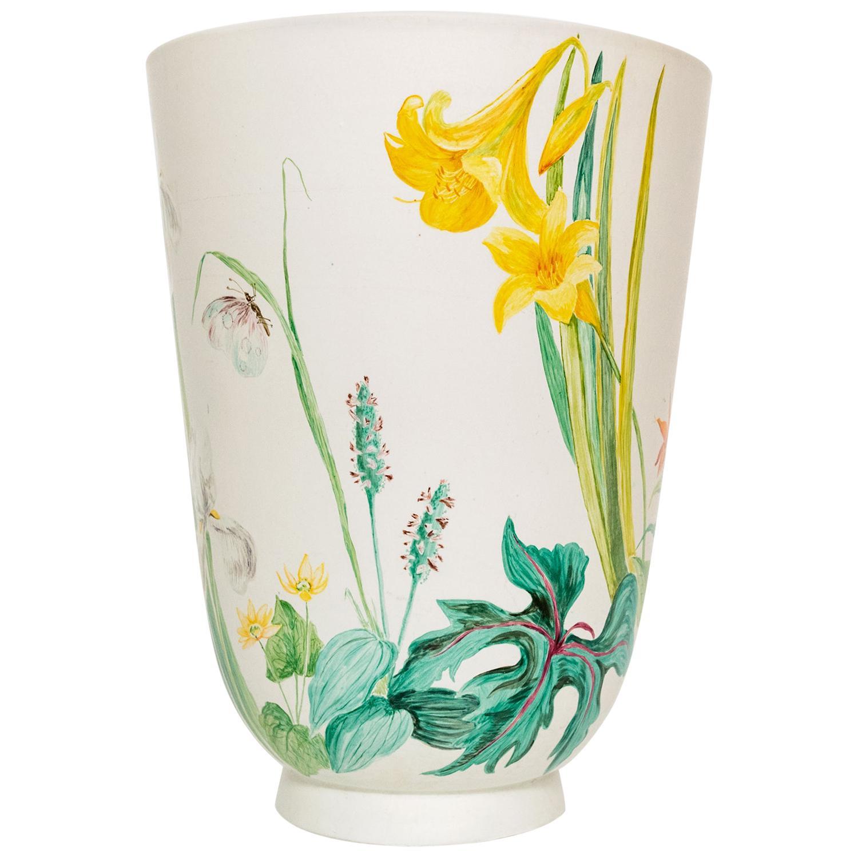 Large Wilhelm Kage Hand Decorated vase Gustavsberg