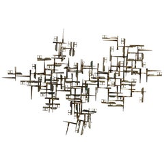 Large William Bowie Abstract Wall Nail Sculpture