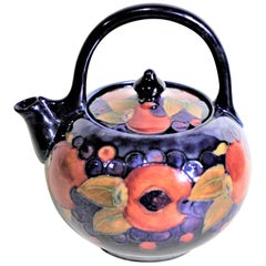 Large William Moorcroft Pomegranate Patterned Art Pottery Teapot
