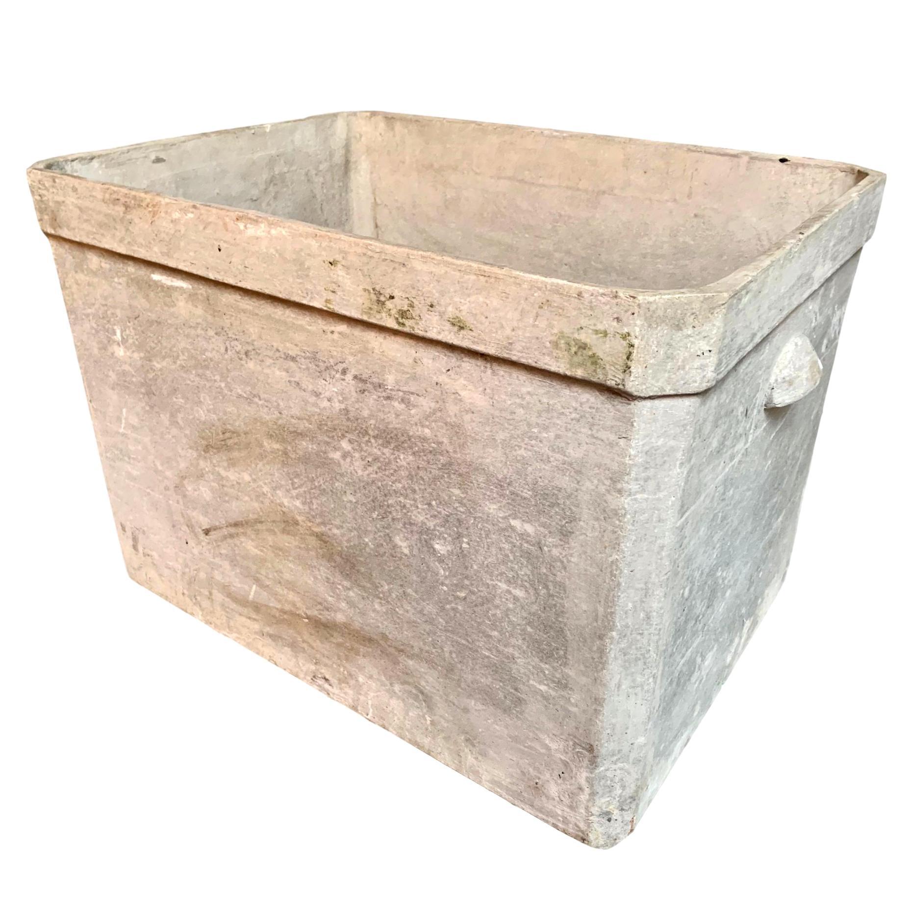 Large Willy Guhl Basin Concrete Planter