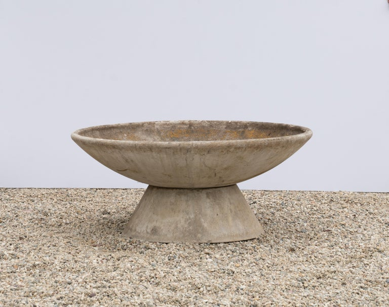 Swiss Large Willy Guhl Concrete Planter with Stand For Sale
