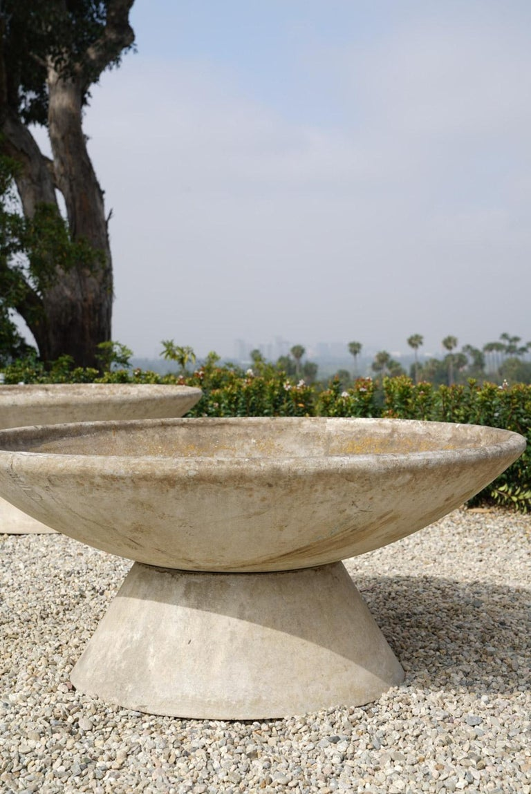 Large Willy Guhl Concrete Planter with Stand For Sale 1