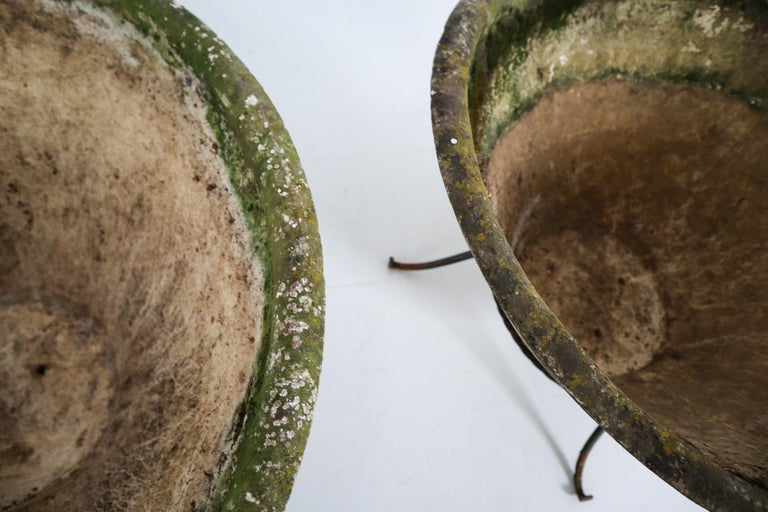 Large Willy Guhl Garden Stone Planters on Stands, Switzerland, 1960s For Sale 1