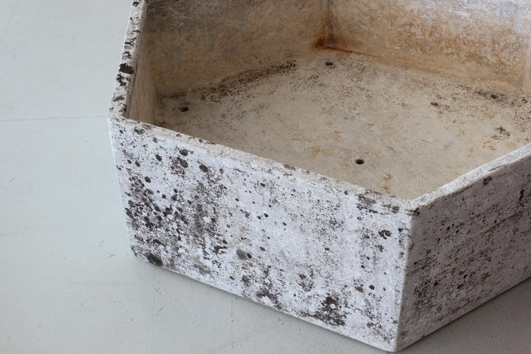 Large Willy Guhl Hexagon Planter In Fair Condition For Sale In Los Angeles, CA
