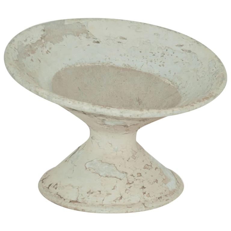 Large Willy Guhl Tilted Planter, Old Patina, Switherland 1960, in Cement For Sale