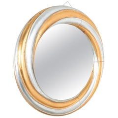 Large Wood Swirl Trompe l'oeil Wall Mirror, Italy