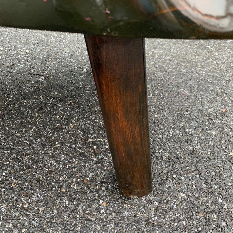 Large Wooden Folk Art Bench or Cocktail Table For Sale 12