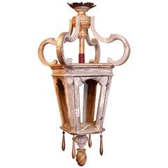 Large Wooden French Lantern