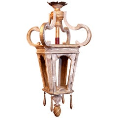Large Wooden French Lantern
