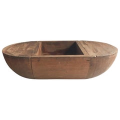 Large Wooden Trencher Bowl