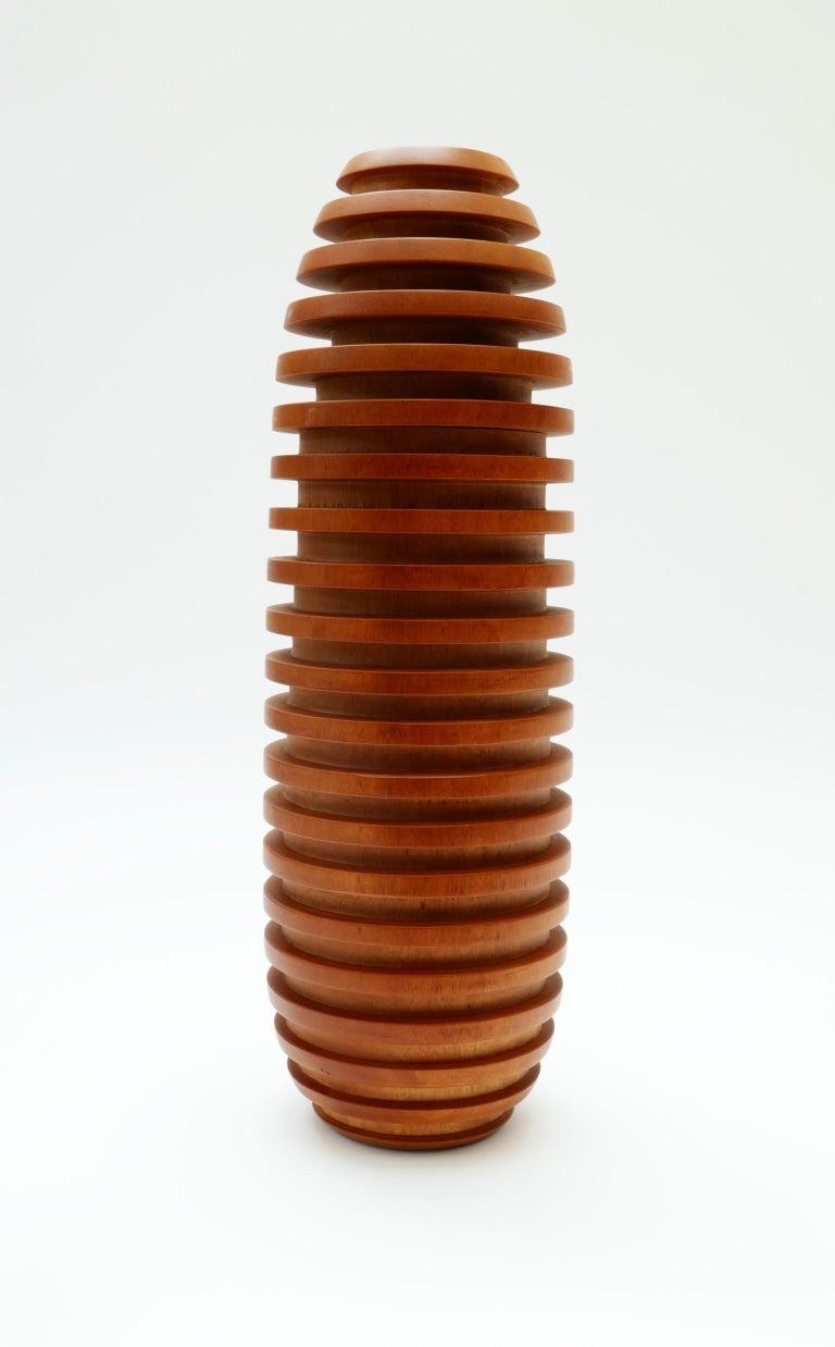 Large wooden vase, 1980s.