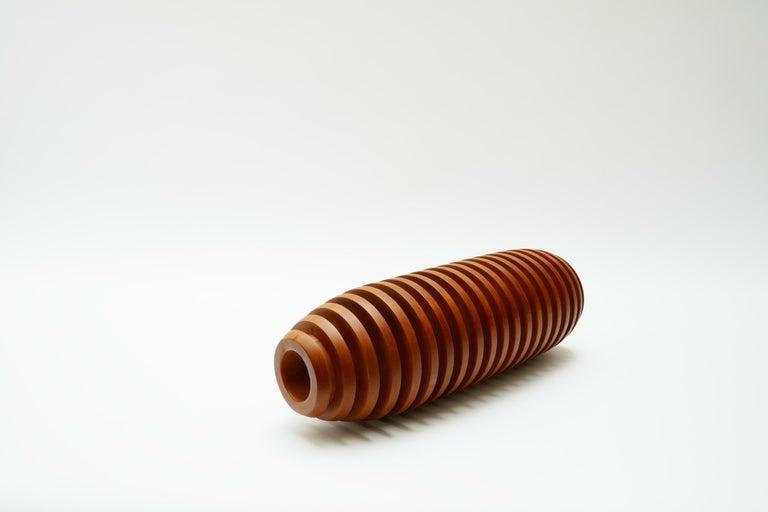 European Large Wooden Vase, 1980s For Sale