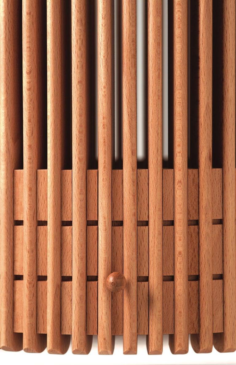 Emanuela Frattini Magnusson Large Wooden Wastepaper Basket for Bottega Ghianda In New Condition For Sale In Valmadrera, IT
