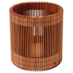 Emanuela Frattini Magnusson Large Wooden Wastepaper Basket for Bottega Ghianda