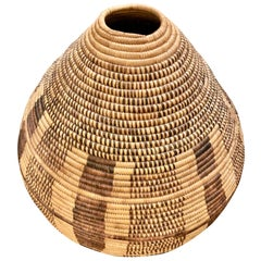 Large Woven Tribal Basket