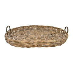 Large Woven Willow Tray