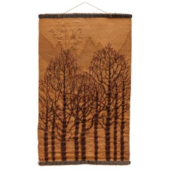 Large Woven Wool Textured Three Art Wall Hanging Tapestry