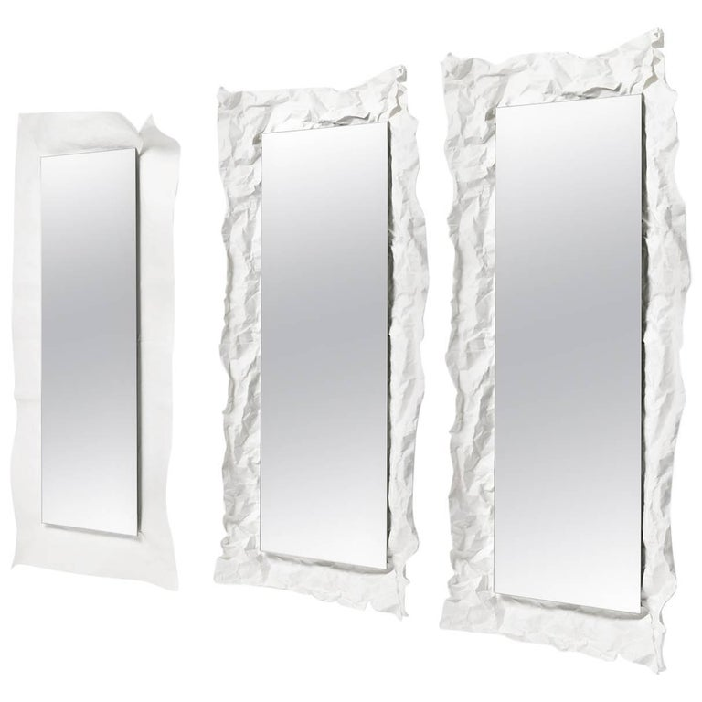 Large Wow Mirror in White by Uto Balmoral & Mogg For Sale