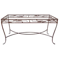 Large Wrought Iron Art Deco Table Attributed to Salterini