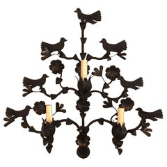 Large Wrought Iron Bird Sconces