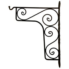 Large Wrought Iron Scrolling Wall Mounted Bracket for Lanterns or Signs