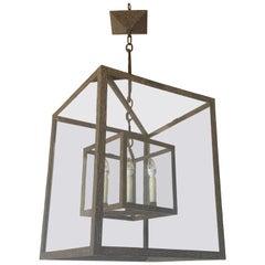 Large Wrought Iron Square Lantern