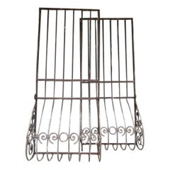 Large Wrought Iron Window Grilles, Set of 2