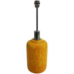 Large Yellow Ceramic Table Lamp, 1960s