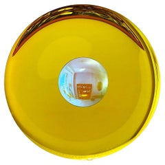 Large Yellow Concave Mirror One of a Kind by Christophe Gaignon