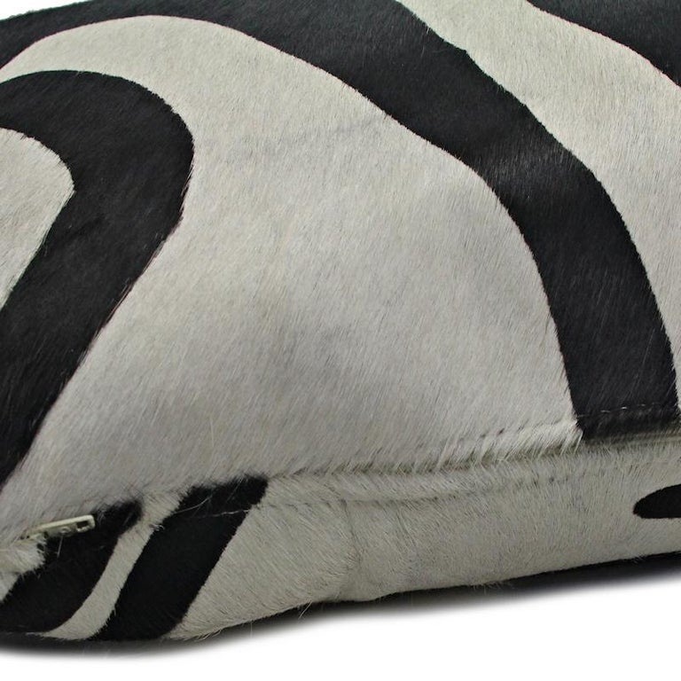 Australian Large Zebra Print Pillow Cushion Cover For Sale