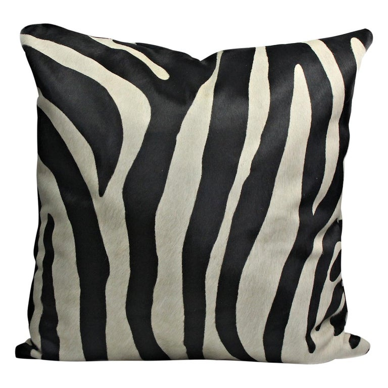 Large Zebra Print Pillow Cushion Cover For Sale