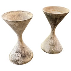 "Large Pair of Willy Guhl ""Diablo"" Hourglass Shaped Planters Sold as Pair"